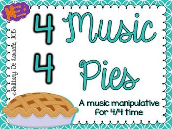 4/4 Time - Music Pies - Music Time Signature Manipulative