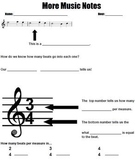 Time Signature & Measure Worksheet or Handout