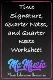 Time Signature, Quarter Notes, Quarter Rests