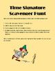 Time Signature Scavenger Hunt