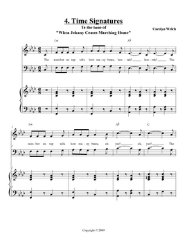 Time Signature Song, Teacher Edition
