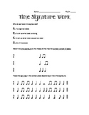 Time Signature Work - 4/4, 3/4, 2/4