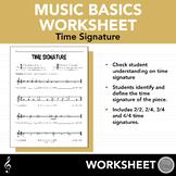 time signature worksheets teachers pay teachers. Black Bedroom Furniture Sets. Home Design Ideas