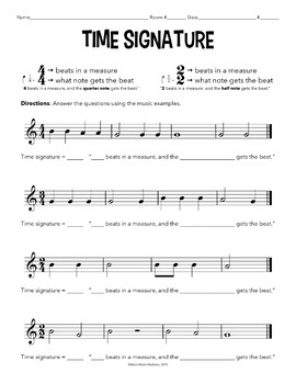 time signature worksheet by music room madness tpt. Black Bedroom Furniture Sets. Home Design Ideas