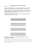 Time Signature Worksheet: Student Composition
