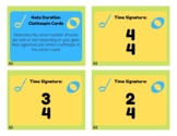Time Signature and Note Duration Clip Cards