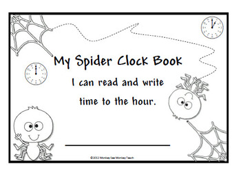 Time: Spiders Sticky Web Time Booklet and Games