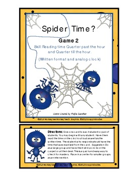 Time Spider's Sticky Web Time (Quarter Till and Quarter Pass)Game 2