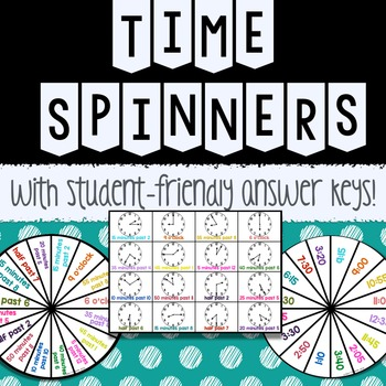 Math Spinners: Time