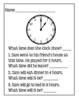 Time ~ Story Problems