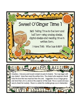 """Time: Sweet  O'Ginger Time Set 1 """"St. Patrick's Day Theme"""""""