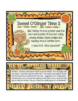 """Time: Sweet  O'Ginger Time Set 2 """"St. Patrick's Day Theme"""""""