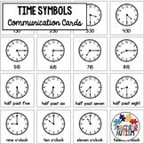 Special Education Visual Symbols Clocks