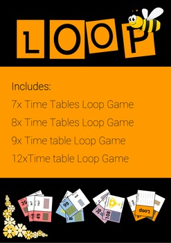 Time Tables 7, 8, 9 and 12 Loop Games - Advanced