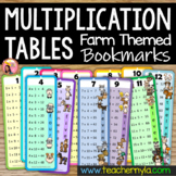 Times Tables - Multiplication Tables - Bookmarks - Farm Theme