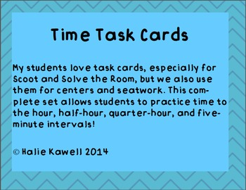 Time Task Card Bundle