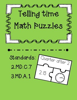 Time Task Card Puzzles