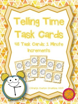 Time Task Cards- 1 Minute