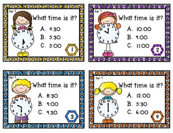 Time - Task Cards