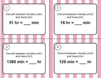 Time Task Cards Bundle