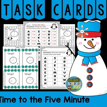 Winter Task Cards Time to the Five Minute