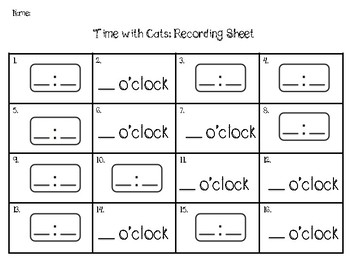 Time Task Cards