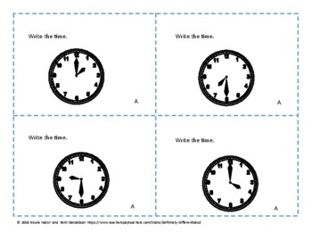 Measuring Time - Differentiated Task Cards