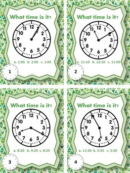 Time Task Cards- 5 Minutes