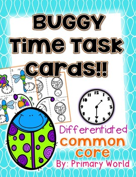 Time Task Cards Buggy Theme Common Core