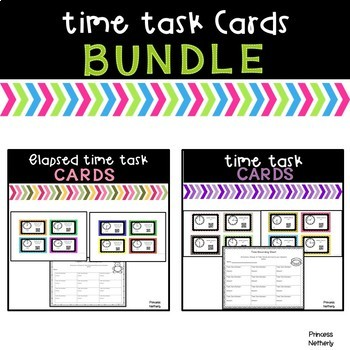 Time Task Cards Bundle