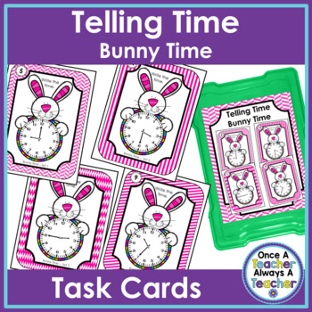 Time Task Cards • Bunny Time