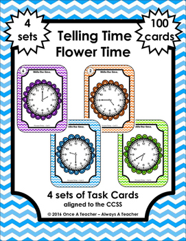 Time Task Cards - Flower Time