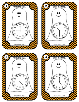Time Task Cards - Ghost Time