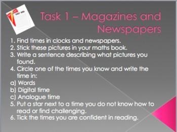 Time Mathematics Task Cards