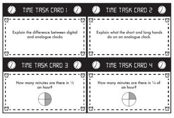 Time Task Cards - Math Measurement Activity