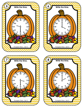 Time Task Cards • Pumpkin Time