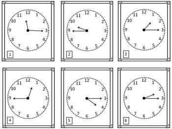 Time Task Cards - Quarter Hour (72 Cards)