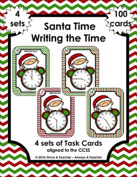 Time Task Cards • Santa Time