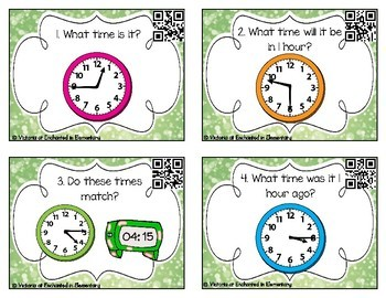 Time Task Cards Set 2: Time to the Quarter Hour