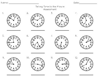 Time Task Cards: Time to the Minute