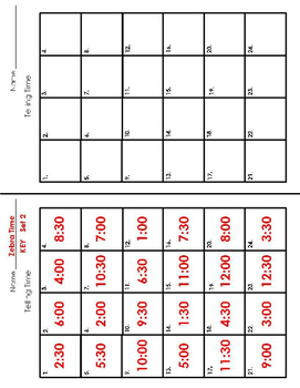 Time Task Cards - Zebra Time