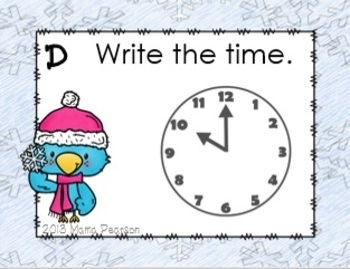 DIGITAL and PAPER Winter Time Task/ Read the Room