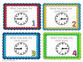 Time Task Cards/Scoot Activity