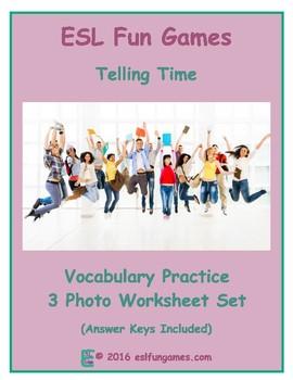 Time Telling 3 Photo Worksheet Set