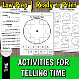 Time Telling Activities for Early Childhood Math