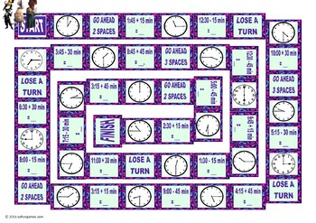 Time Telling Animated Board Game