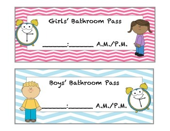 Time Telling Bathroom Passes