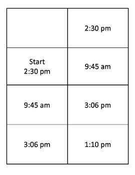 Time Telling Classroom Chain - Spanish, French, German, Etc.