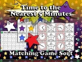 Time: Telling Time to the Nearest 5 Minutes Matching Game Sort - Superstars