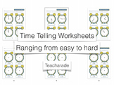 Time Telling Worksheets Ranging from Easy to Hard